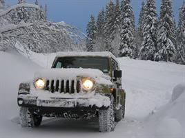 jeep in the winter
