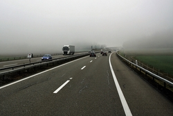 highway in fog